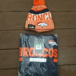Nike Denver Broncos Hoodie and Hat Therma Fit XL